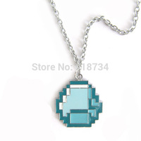 2014 New Fashion Jewelry Minecraft JJ My world Green strange coolie Pendant Necklace Free Shipping
