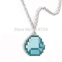 2014 New Fashion Jewelry Minecraft JJ My world Green strange coolie Pendant Necklace Free Shipping