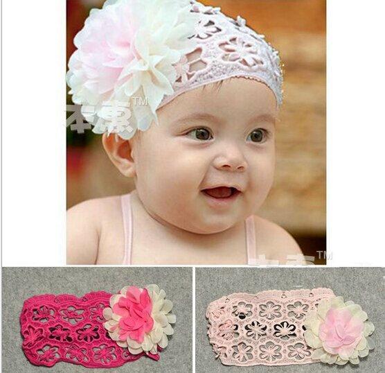 Children Gift Kids Girl Baby Infant Cotton Cute Flowers Headband Hair Band Headwear CCAP7042(China (Mainland))