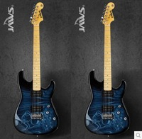 Top quality 2014 New he Wolf colorful stickers Beginners professional electric guitar