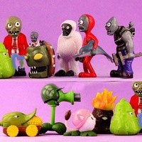 10pcs/set Plants vs Zombies Collection Figures PVZ 3-6cm High PVC For Boys Toys / Gift Free Shipping
