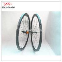 Ultralight carbon tubular wheels 38mm U shape aero cycling wheels, 18 months warranty