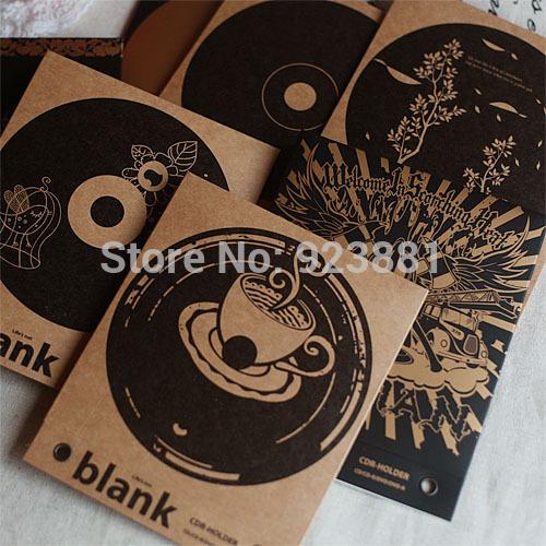 FREE SHIPPING 10 PCs Quality CD DVD R Disc Kraft Paper Sleeves Envelopes Window & Flap CD Cover Case Bag CD Holder(China (Mainland))