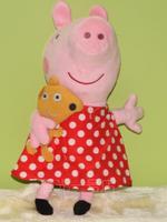Peppa pig 12inch Plaid skirt toy toddler Plush doll children gift