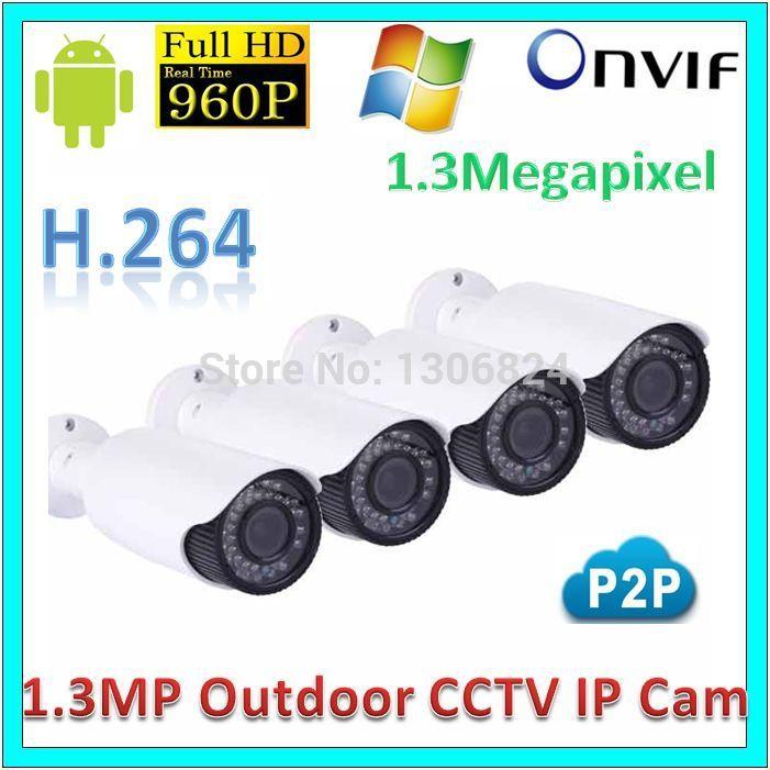 Free Mail Original Video Surveillance Network IP Camera Security Waterproof P2P 1.3Megapixel IR Night Vision 960P CCTV WebKamera(China (Mainland))