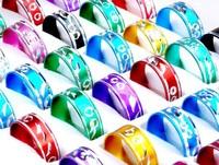 100pcs  Wholesale Jewellery Lots Mixed Multicolours Aluminum Rings