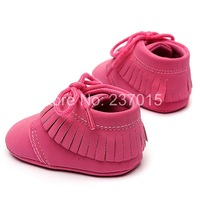 Free Shipping Cute Spring Warm Baby Girl Princess Shoes Soft Boots Crib Tassel Prewalkers P ink Colors