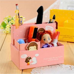 2014 New NE Designer DIY Folding Paper Storage Box Organizer Fashion Jewelry Container Desk Decor EN(China (Mainland))