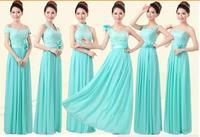 HOT women party dress ice blue 6 style sister group women bridesmaid dress floor-length princess dress women S-XXL