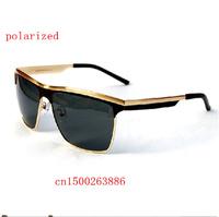 New brand polarizer large frame men's sunglasses P8666 driver mirror metal brand designer polarized sunglasses for men
