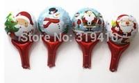 Santa Christmas stick hand holder (cannot float) Inflation Toys 50pcs Xmas
