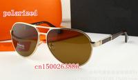 High-end large box men's alloy metal brand designer polarized sunglasses driver mirror H9001