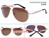 The blue film plating men's business polarized sunglasses driver mirror 13018
