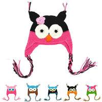 1 PCS Fashion Cute Baby Boy Girl Toddler Owls Knit Crochet Hat Beanie Cap Comfy Colors