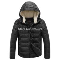New Arrival Fashion Men's Thicking Coat  Winter Coat  Black Men Duck Down Hoodie Outwear Fur Collar Duck Down Jackets Coat