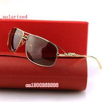 The new box leopard head men's designer brand polarized sunglasses 8200975