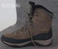 Men winter hiking boots snow shoes for men waterproof shock absorption slip-resistant genuine leather boots men snow boots