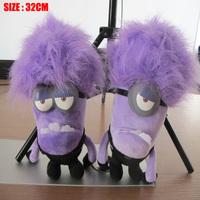 New Arrival Promotion 2pcs/lot Hot 32cm Despicable ME Yellow Minion Toys Kids Cute Dolls kids Brinquedos Purple Evil Plush Toy