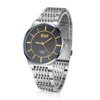 BOSCK brand Male watch ultra - thin quartz watch stainless steel strap waterproof watch