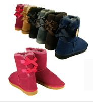 Women Boots Short  lacing bowknot Snow Boots Warm Boot Winter Snow Boots 6 Colors US5-10 Discount Price