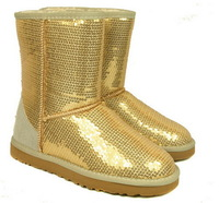 Factory Price Women Short Sequins Snow Boots Warm Boot Winter Snow Boots 5 Colors US5-10
