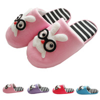 Spring autumn fashion women's home slippers shoes animal prints leisure ladies slippers warm winter Big size L2392