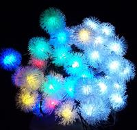 2014 Chuzzle Ball Led Christmas Tree Light Solar Powered Fairy String Lights 20 RGB Led Globe Lighting for Outdoor Gardens Party