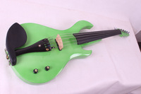 green color  big pick up 5 String  Electric Violin New 4/4 Flame guitar shape Solid wood Powerful Sound fret 5-38#