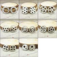Mix 96 pcs Charms Gear Pendant  Tibetan silver  Zinc Alloy Fit Bracelet Necklace DIY Metal Jewelry Findings
