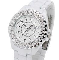 50pcs/lot Diamond Sinobi Couple Watch Ladies Luxury Party Hours Lovers Wristwatch 2014 New Fashion Men Women Quartz Watches