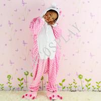 Free shipping 2014 Children's flannel pajamas piece toilet cartoon Hello Kitty cartoon child to wear tracksuit