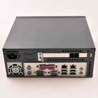 Metal Mini-ITX Chassis (front panel for plastic parts),AC Input 100W,270x265x90(mm)