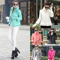 2014 Brand New Winter Hoodie down Jacket Ladies Sport Sportswear Clothes Women Slim Solid Zipper Outerwear