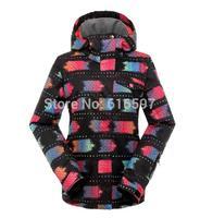 Hot sale Winter Outdoor sports Fashion Ski Coat High quality Waterproof Thickening Keep warm Women Ski Jacket 050E Free shipping