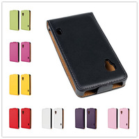 For LG Optimus L5 II E460 E455 Case 11 Color High quality Leather design Magnetic Holster Flip Leather phone Cases Cover B229-A
