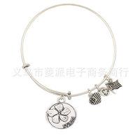 Silver plate Alex and ani Bracelet Expandable Bracelet  Fashion Jewelry Vintage bracelets best gift for friend and sister