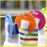 Colorful Multifunctional Mini Sock Clips Storage Drying Small Receiving Hanger Plastic Clip Racks Organizer