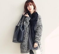 2014 New Hot Autumn fashion style cardigan superb quality Personality color women's sweaters Thick Coat knitwear render sweater