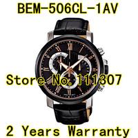 BEM-506CL-1AV new Roman numerals golden black surface black strap men's watch
