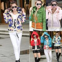 2014 brand new design fashion ladies short coat winter down jackets women's winter keep warm coat color winter jacket for women