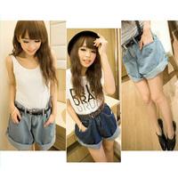 2014 Summer Fashion Denim Women Jeans Casual Plus Size Zipper Women Jeans Pants Shorts Loose Designer Jeans With Belt Hot Sale