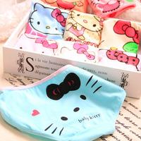 Free shipping hello litty large Mid  waist KT cat cute cartoon cat face cotton ladies underwear Briefs