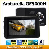 "Ambarella Original Car dvr GF5000H 2.7""LCD Full HD1920X1080P 30fps with 170 degree view angle Car Camera Recorder"