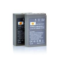 2PCS DSTE BLS-5 Battery compatible for Olympus PS-BLS5, OM-D E-M10, PEN E-PL2, E-PL5, E-PL6, E-PM2