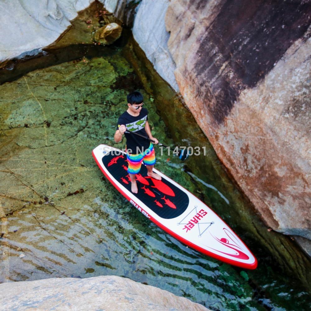 2014 New Shark Sups 11' Inflatable Sup Paddle Boards(China (Mainland))