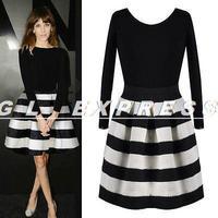 2014 New Women Sexy Chiffon Long Sleeve Evening Party Short Mini Dress