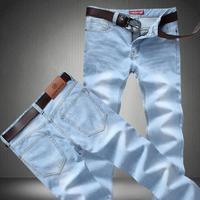 Jeans men 2015 new mens Light blue jeans Men thin section straight denim long pants loose high quality size 42 40 38 36 34 33 32