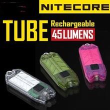 2014 New Nitecore T Series Tube 45 Lumens USB Rechargeable Keychain Light,Freeshiping(China (Mainland))