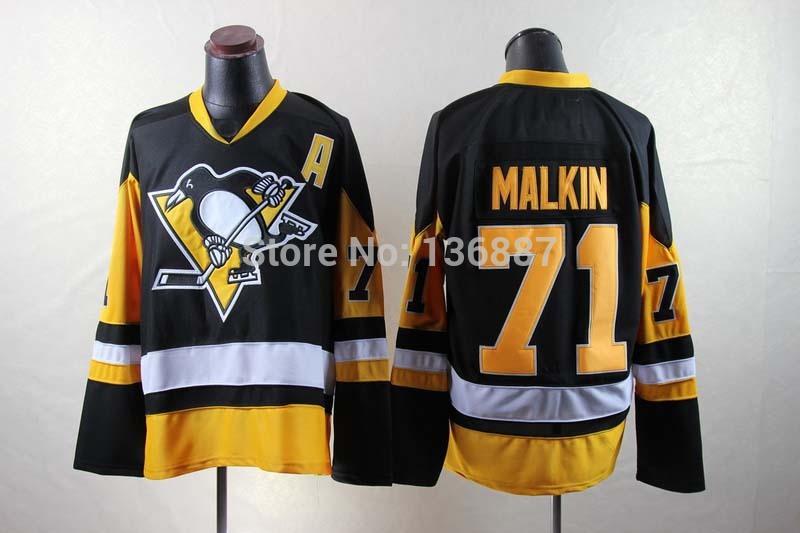 #71 Evgeni Malkin,Pittsburgh Penguins Authentic ICE Hockey Jerseys,2014 New Style Stitched Jersey,Embroidery logos,Free Shipping(China (Mainland))