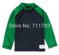 RETAIL free shipping 2014 new baby boy name brand original rash guard, free shipping